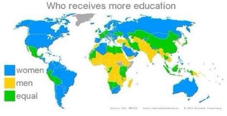 MAPA ¿qué sexo recibe más educación en el mundo? | Noticias, Recursos y Contenidos sobre Aprendizaje | Scoop.it