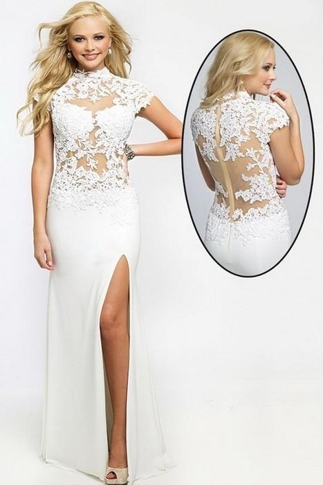 Refined And Elegant Chiffon Yarn White Nice Prom Dress | Fashion Dresses | Scoop.it