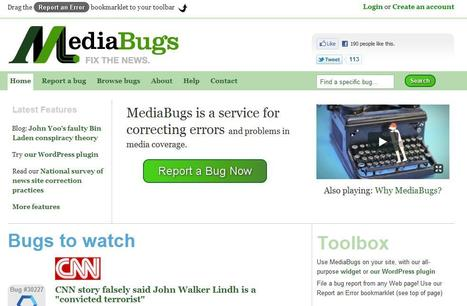 MediaBugs | Top sites for journalists | Scoop.it
