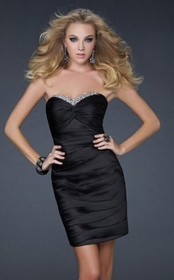 Black Strapless Sequined Neckline Short Fitted Prom Dress [little black strapless prom dress] - $136.00 : Cheap Prom Dresses 2014,Prom Dresses For Cheap | Prom dress | Scoop.it