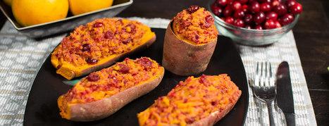 Twice Baked Stuffed Sweet Potatoes - Forks Over Knives | Vegan Food | Scoop.it