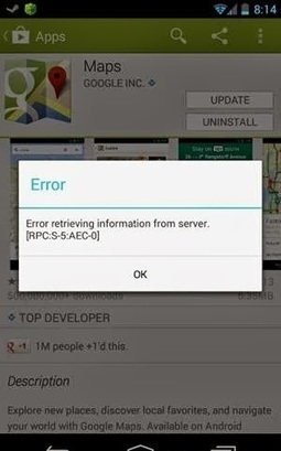 How to easily Fix the Google Play Error [RPC:S-5:AEC-0] | Tips for Android | Scoop.it
