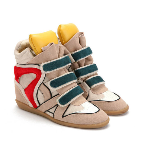 Upere Wedge Sneakers Suede in Yellow Tongue - $189.37 | UPERE Wedge Sneakers Show | Scoop.it