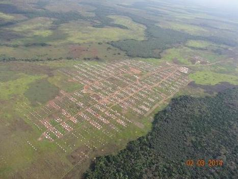Aerial photo of Inke refugee camp | African News | Scoop.it