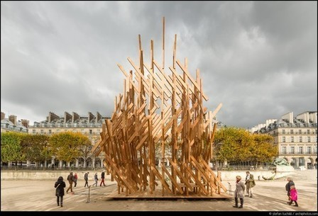 Kengo Kuma Designs Sculptural Pavilion in Paris | The Architecture of the City | Scoop.it