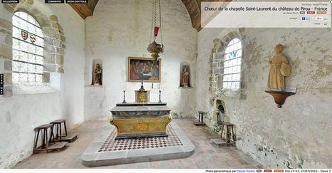 Visite virtuelle - Chœur de la chapelle Saint-Laurent du château de Pirou - France par Pascal Moulin | moulin360panoramic | Scoop.it