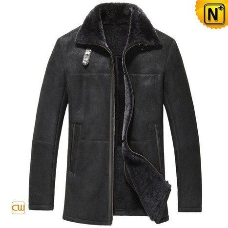 CWMALLS® Mens Sheepskin Leather Coat CW833278 | Leather Trench Coat | Scoop.it