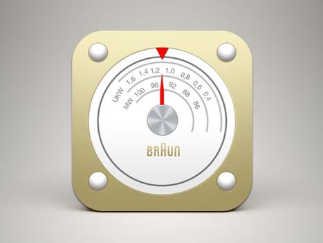 FREE PSD - Braun Radio iOS Icon | G-Tips: Design Ressources | Scoop.it