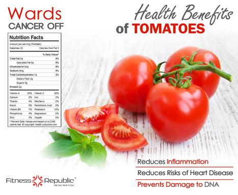 Health Benefits of Tomatoes [INFOGRAPHIC] #tomatoes #benefits | metaphysics | Scoop.it