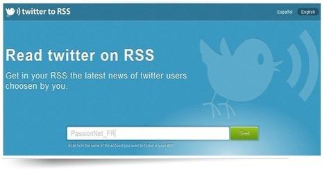 Twitter to RSS, suivez les Twittos de votre choix par flux RSS | Pratique et Twitter | Scoop.it