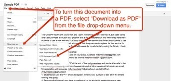 Free Technology for Teachers: How to Create PDFs in Google Drive in Three Steps | Technology for classrooms | Scoop.it