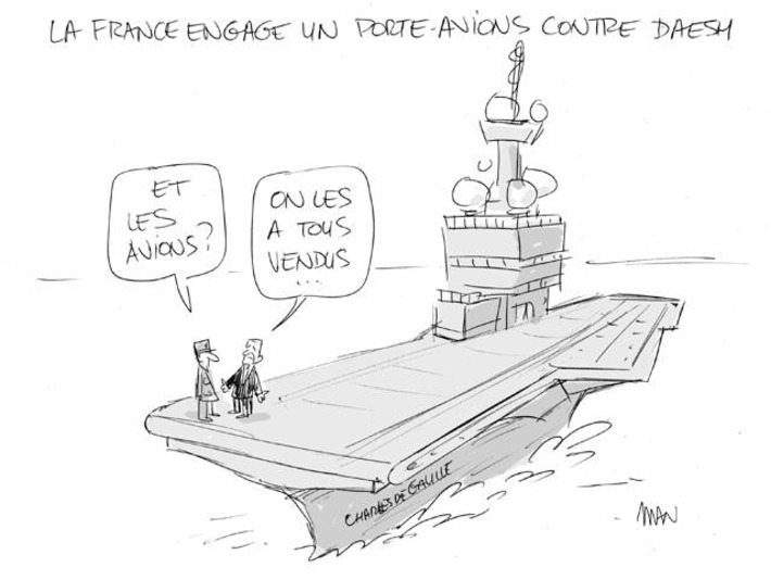 La France engage un porte-avions contre Daesh | Baie d'humour | Scoop.it