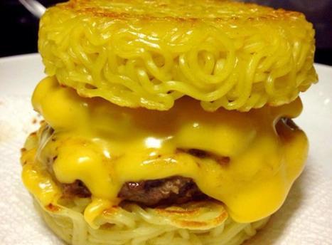 A Hamburger Bun Made of Ramen - NBC Southern California | Hopster | Scoop.it