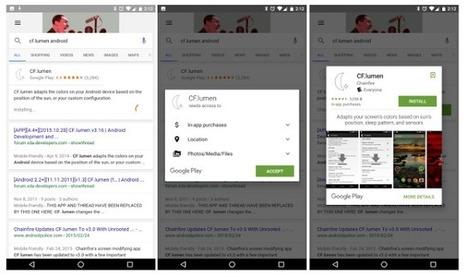 Google propose d'installer les applications directement via les résultats de recherche | Veille : Référencement Naturel SEO | Scoop.it