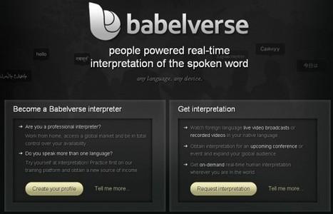 Babelverse, la startup de traducción simultánea online | Recull diari | Scoop.it