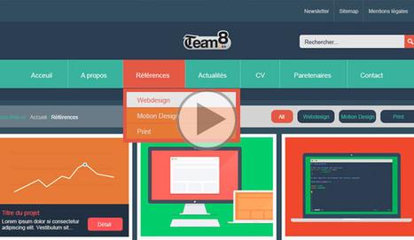 Template flat design - Créer une maquette de site Web - Tuto Photoshop | Web | Scoop.it