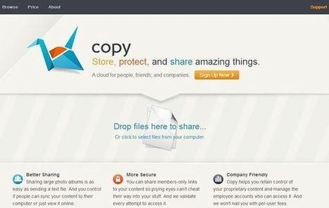 Copy regala gigabytes para almacenar, sincronizar y compartir archivos en la nube | Las TIC y la Educación | Scoop.it