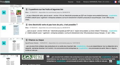 Pickanews. La veille médias à la carte – Les outils de la veille | Gestion de l'information | Scoop.it