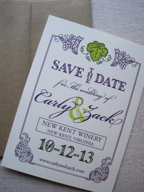 Vineyard Save the Date   Autumn wedding ideas   Scoop.it