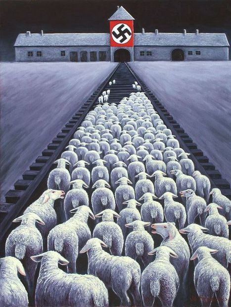 Confronting paintings compare meat and dairy industries with the Holocaust | Food Ethics | Scoop.it