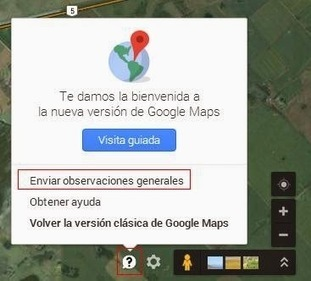 Geoinformación: Como notificar un error en la nueva versión de Google Maps | #GoogleMaps | Scoop.it