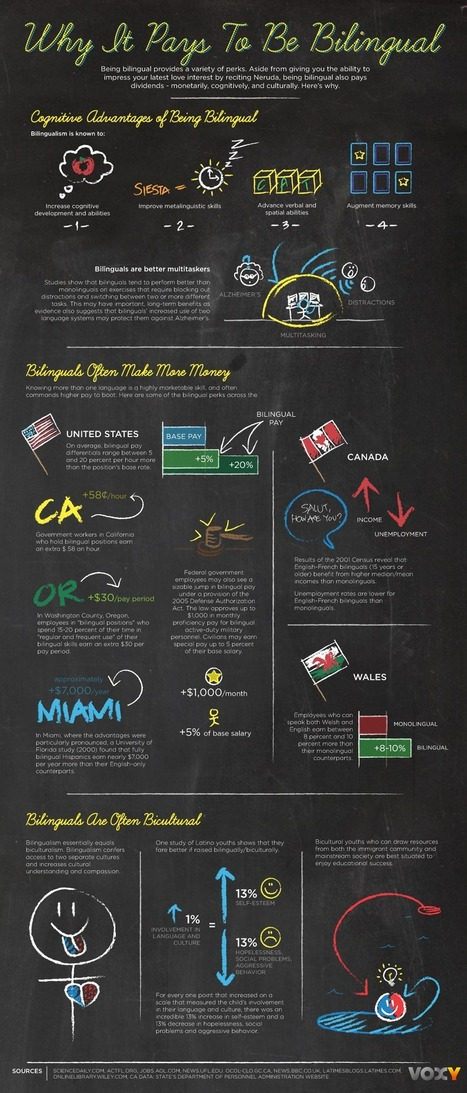 Why It Pays To Be Bilingual [INFOGRAPHIC] | Voxy Blog | KgTechnology | Scoop.it