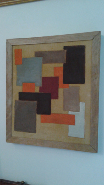 VINTAGE ABSTRACT: Mounted and reframed Abstract from 1950's and made it really antique. | The Nature of Art | Scoop.it
