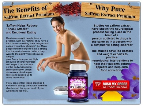 Saffron Extract Premium Review - Claim Your Free Weight Loss Bottle Online Now! | kendall magar | Scoop.it