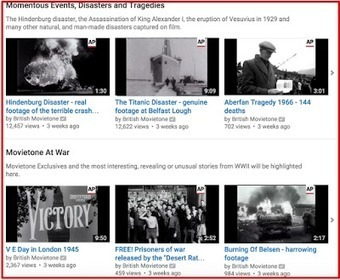 New- A Treasure Trove of Historical Footage Is Now Provided for Free on YouTube ~ Educational Technology and Mobile Learning | TEFL & Ed Tech | Scoop.it