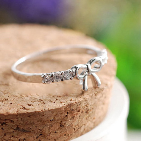 Lovely Cute Rhinestone Bow Ring just $9.90 only in ByGoods.com | Design | Scoop.it