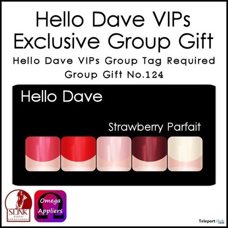 Strawberry Parfait Nail Applier Group Gift by Hello Dave | Teleport Hub - Second Life Freebies | Second Life Freebies | Scoop.it
