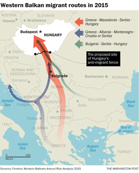 Hungary's response to the migrant crisis? A 109-mile-long, 13-foot-tall fence | Regional Geography | Scoop.it