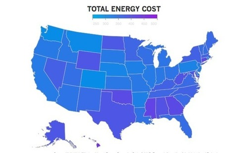 The Most and Least Expensive States for Energy Costs | green infographics | Scoop.it