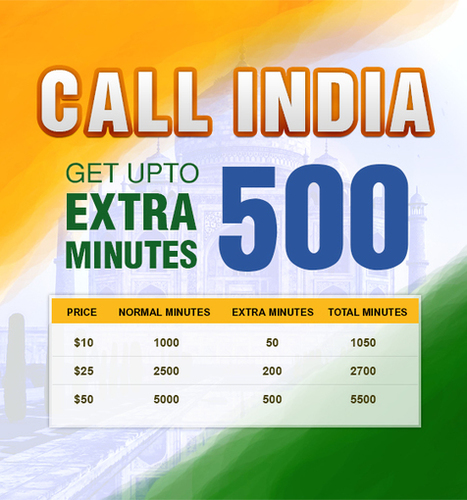 Amantel India Calling Offer - Get upto 500% extra minutes | Cheap International Calling | Scoop.it