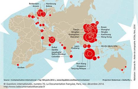 Carte des 100 premiers ports de marchandises du monde - Diploweb | pédagogie et numérique | Scoop.it
