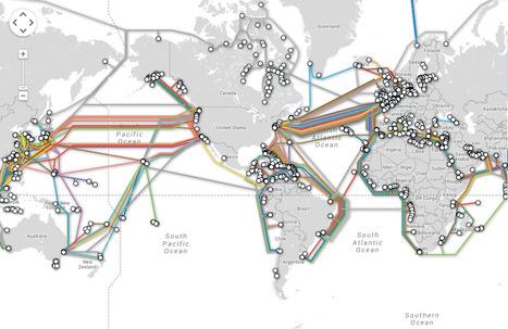 Submarine Cable Map: une carte interactive des cables sous marins dans le monde   #TeleGeography   e-Xploration   Scoop.it