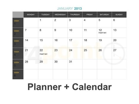 Planner + Calendar - PowerPoint Template | nadeem | Scoop.it