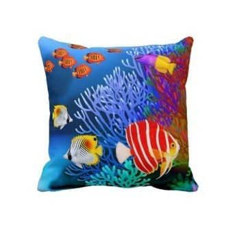 Pacific Saltwater Coral Reef Aquarium American MoJ Pillow from Zazzle.com | Pillows | Scoop.it