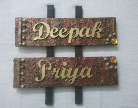 Hand made name plates for Couple - Craftsia - Indian Handmade Products ...