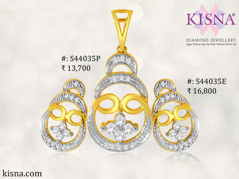 Light up your mood with this Light and Elegant duo Pendant Earrings from KISNA!   Gold Diamond Jewellery Designs   Scoop.it