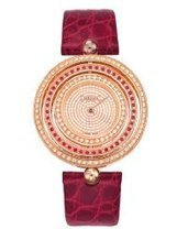 Versace Women's 80Q871D91F S800 Eon IP Rose-Gold Diamond Red Leather Watch | Best Watches Online | Scoop.it