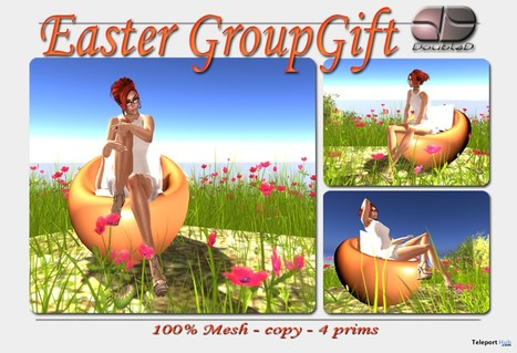Egg Chair Easter Group Gift by DoubleD | Teleport Hub - Second Life Freebies | Second Life Freebies | Scoop.it