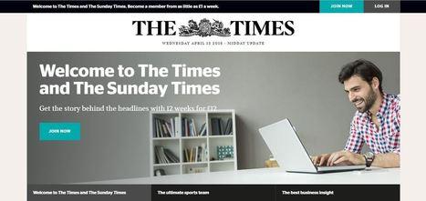The Times : sur le web, mais pas sur le flux | Médias, mon amour | Scoop.it
