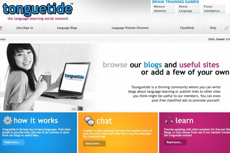 Tonguetide - a Language-Learning Social Network | high school speech therapy | Scoop.it