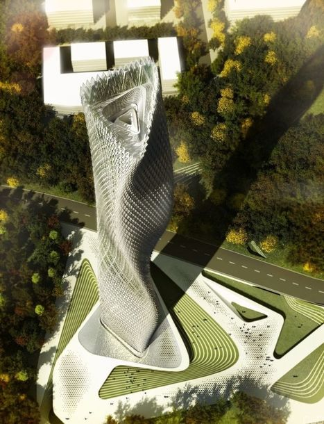 Taiwan Skyscraper's Facade Covered in Thousands of Wind Turbines | sustainable architecture | Scoop.it