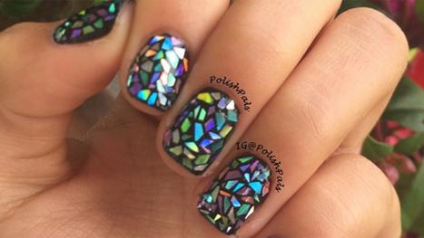 Shattered glass nail art is 'breaking' the Internet   Kickin' Kickers   Scoop.it