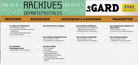 Les Archives départementales du Gard sur le net ! | Nos Racines | Scoop.it