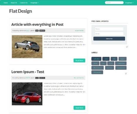 Flat UI Blogger Template - Flat Design Approach in Blogger | Flat-design | Scoop.it