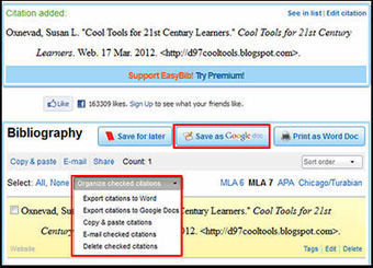 EasyBib: One Click Access to Google Docs & More | iGeneration - 21st Century Education | Scoop.it