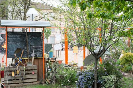 Le jardin de l'îlot d'Amaranthes à Lyon : cultiver les urbains en cultivant des légumes | ville et jardin | Scoop.it